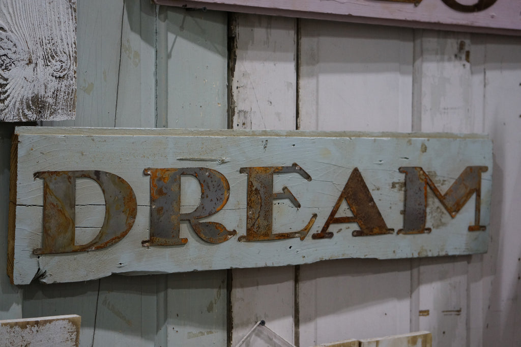 Old Tin DREAM SIGN