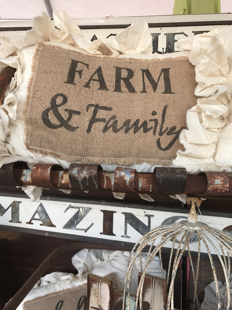 Farm & Family Pillow