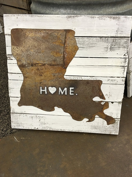 Louisiana Tin  Home Sign