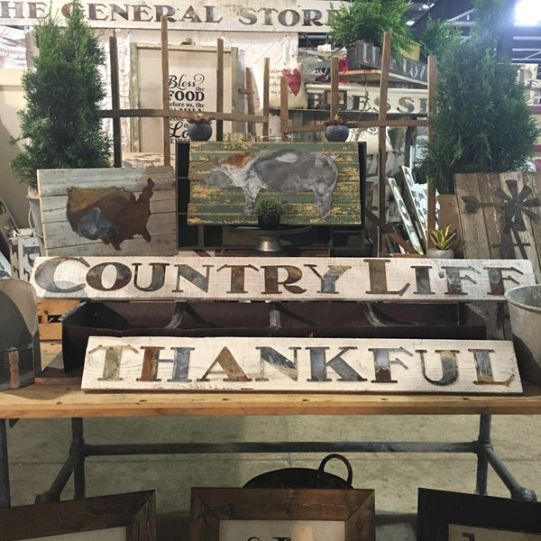 Old Tin Country Life Sign