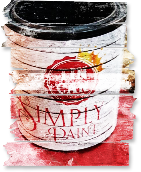"""Simply Paint"" can be used on Wood, Fabric, Metal and Glass.."