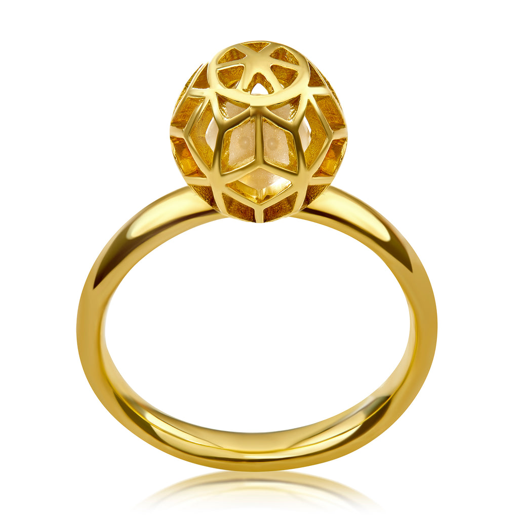 Hex Clear Ball Ring - ReRe Corcoran Jewelry