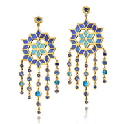 Flower Opal Drop Earrings - ReRe Corcoran Jewelry