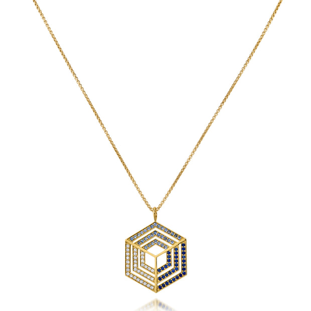 Hex Illusion Pendant - ReRe Corcoran Jewelry