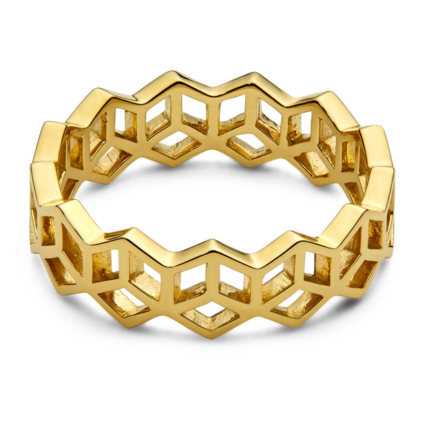 Hex Stack Ring - Cut Out - ReRe Corcoran Jewelry