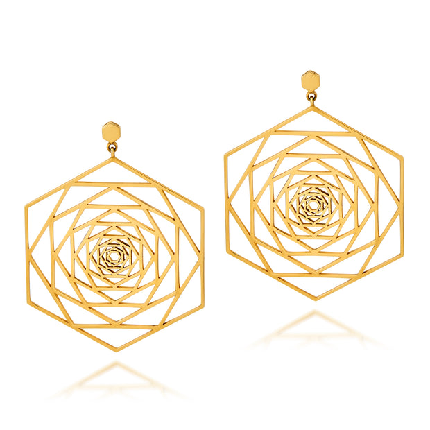 Large Rosette Earrings - ReRe Corcoran Jewelry