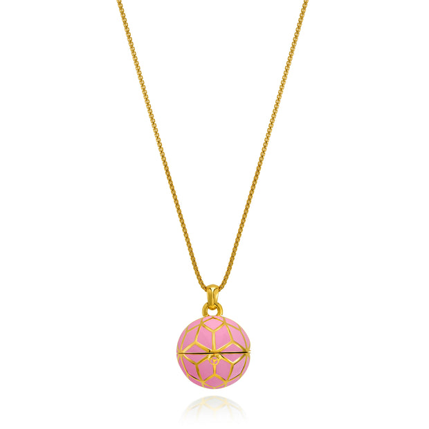 """The Balm Jul-Re"" - Pink Hex Ball Lip Balm Pendant - ReRe Corcoran Jewelry"