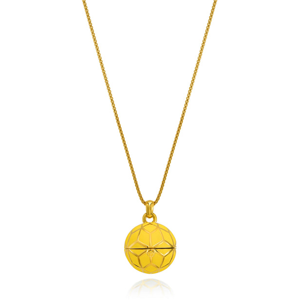 """The Balm Jul-Re"" - Yellow Hex Ball Lip Balm Pendant - ReRe Corcoran Jewelry"
