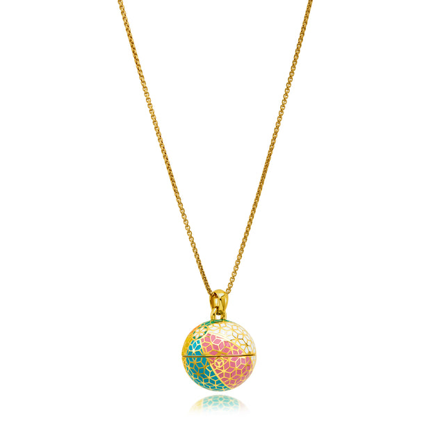 """The Balm Jul-Re""  - Hex Beach Ball Lip Balm Pendant - ReRe Corcoran Jewelry"