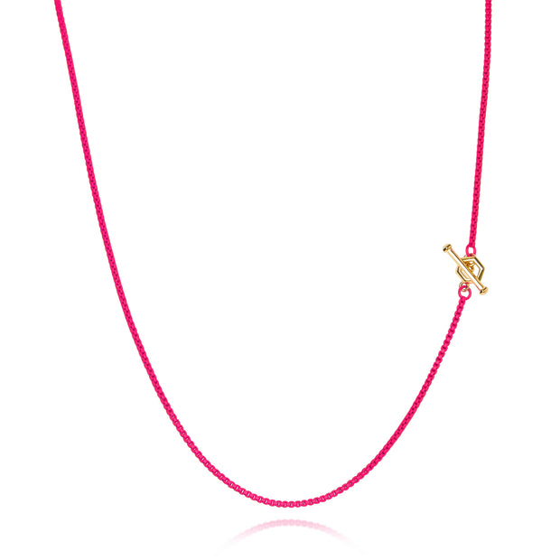 Hex - Diamond Toggle Colored Necklace - ReRe Corcoran Jewelry