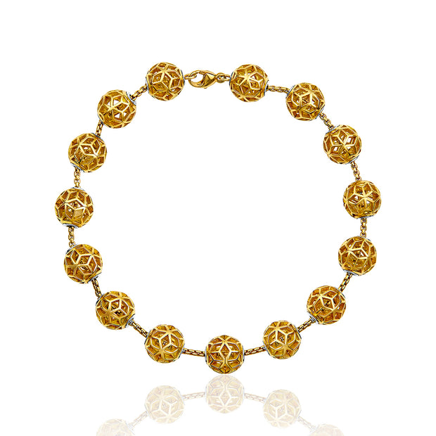 Defi Floating Hex Ball Bracelet - ReRe Corcoran Jewelry