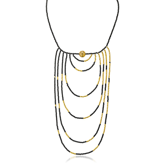 The Code 6-Strand Bib Necklace - ReRe Corcoran Jewelry