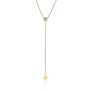 Hex Lariat w/Diamond Center - ReRe Corcoran Jewelry