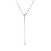 Hex Lariat w/ Pavé Diamond Charms - ReRe Corcoran Jewelry
