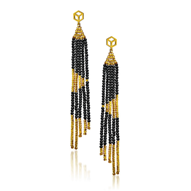 "The Code ""Reverse"" Fringe Earring"