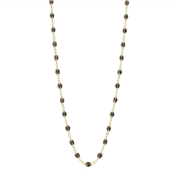 Classic GiGi Quartz necklace, yellow gold, 16.5""