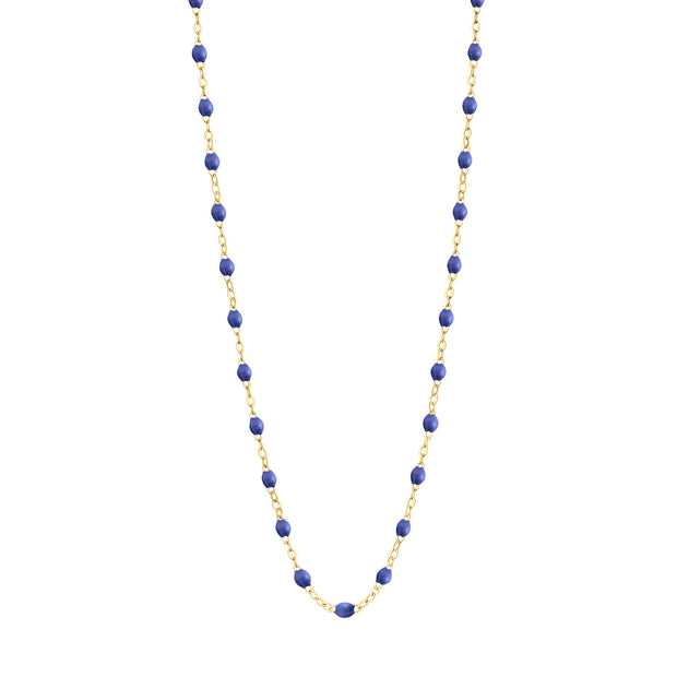 Classic GiGi Bleuet necklace, yellow gold, 16.5""