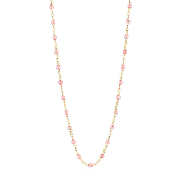 Classic GiGi Rose' necklace, yellow gold, 16.5""
