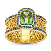 Green Garnet Ring - ReRe Corcoran Jewelry