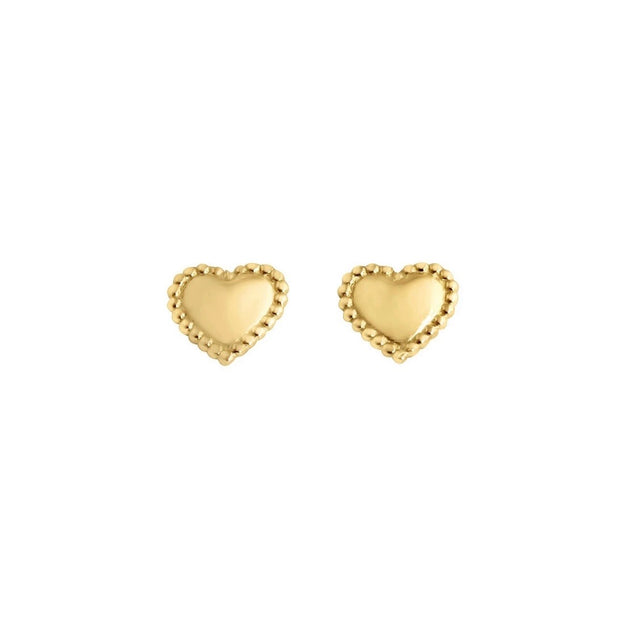 GiGi Lucky Heart earrings, Yellow Gold