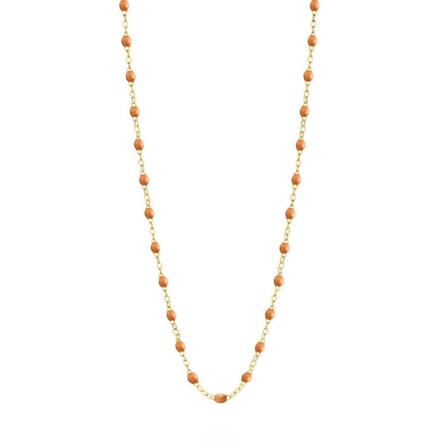 Classic GiGi Caramel necklace, yellow gold, 16.5""