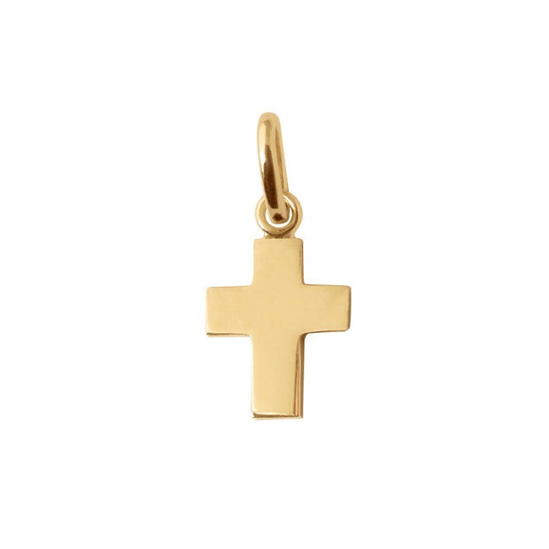 Cross Charm Yellow Gold, pendant