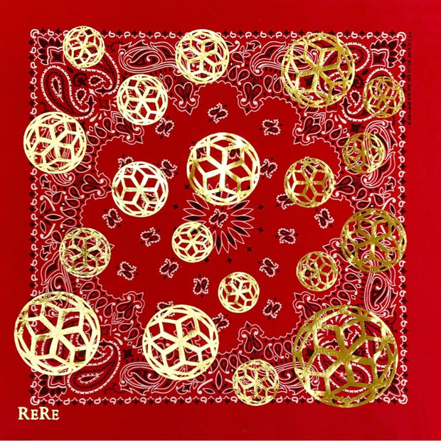ReRe Signature Hex Ball Print Bandana