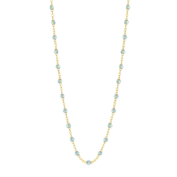 Classic Gigi Ice necklace, yellow gold, 16.5""