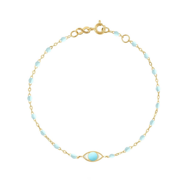 Eye Classic Gigi Baby Blue bracelet, Yellow Gold, 6.7""