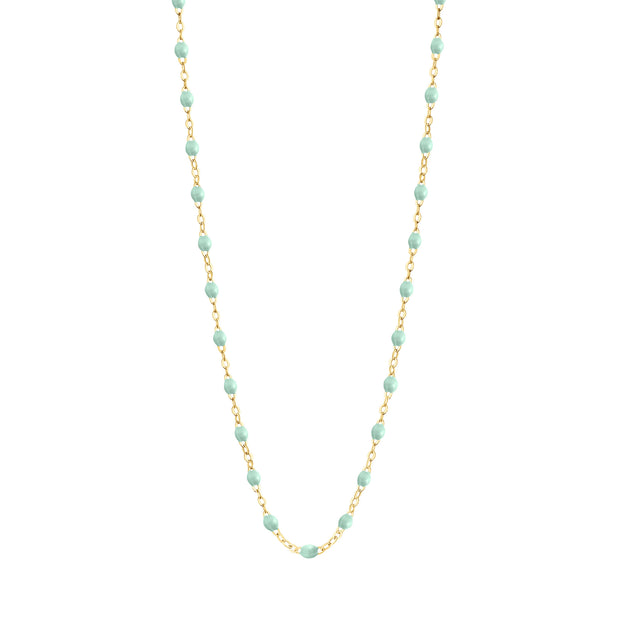 Classic GiGi Jade necklace, yellow gold, 16.5""