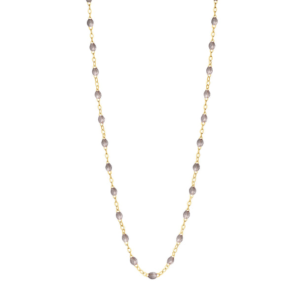 Classic GiGi Silver necklace, yellow gold, 16.5""