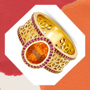 Orange Spessartite Garnet Ring - ReRe Corcoran Jewelry
