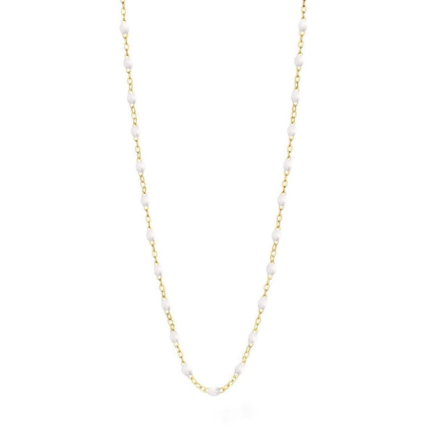 Classic GiGi White necklace, yellow gold, 16.5""