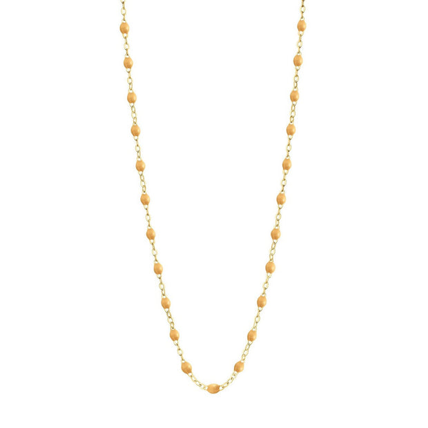 Classic GiGi Nude necklace, yellow gold, 16.5""
