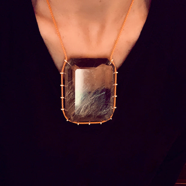 Rutilated Quartz Statement Necklace