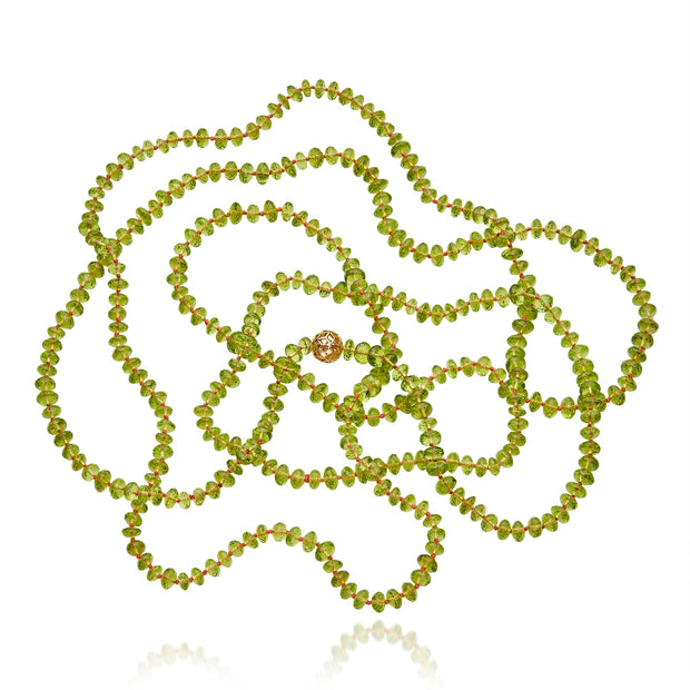 Hand beaded Peridot necklace