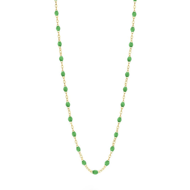 Classic GiGi Green necklace, yellow gold, 16.5""