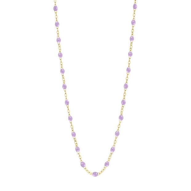 Classic Gigi Lilac necklace, yellow gold, 16.5""