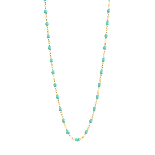 Classic GiGi Lagoon necklace, yellow gold, 16.5""