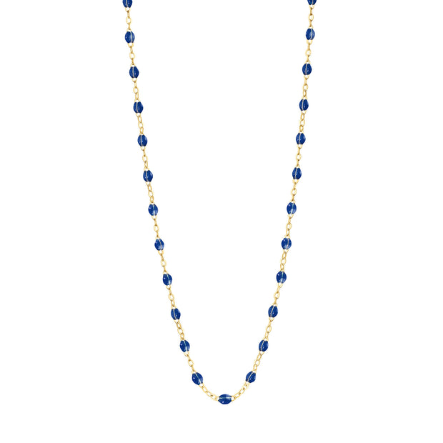 Classic GiGi Sapphire necklace, yellow gold, 16.5""