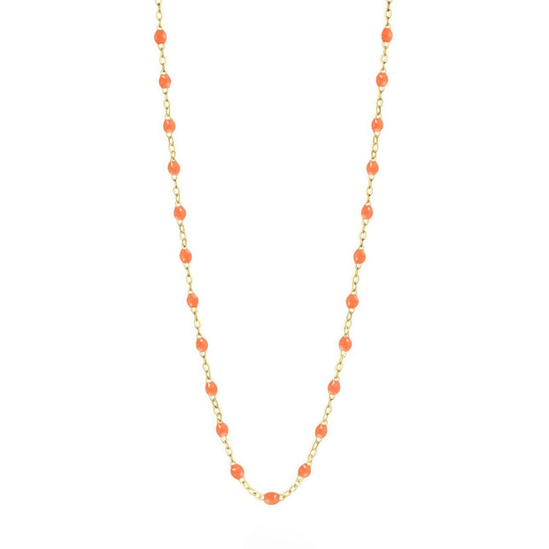 Classic GiGi Orange necklace, yellow gold, 16.5""