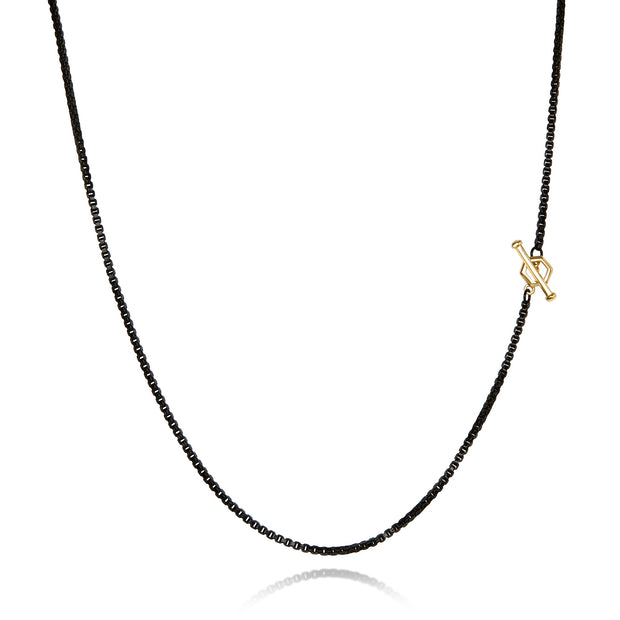 "22"" Hex - Diamond Toggle Colored Necklace"
