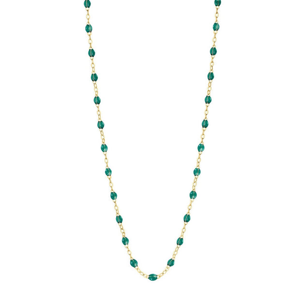 Classic GiGi Emerald necklace, yellow gold, 16.5""