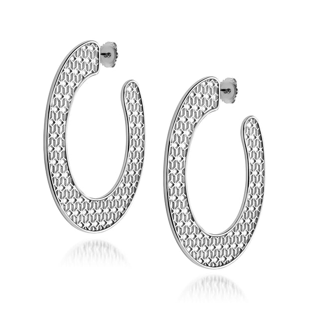 Hex Large Slice Hoop earrings