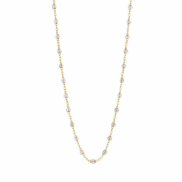 Classic GiGi Sparkle necklace, yellow gold, 16.5""