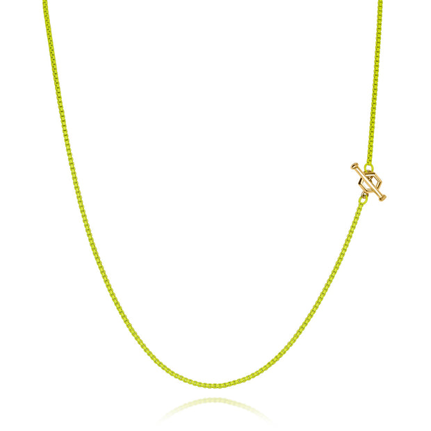 "14"" Hex - Diamond Toggle Colored Necklace"