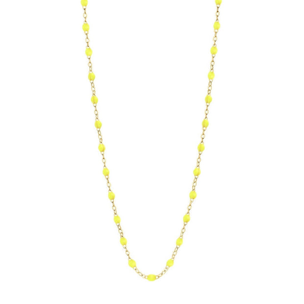 Classic GiGi Lime Necklace, Yellow Gold, 16.5""