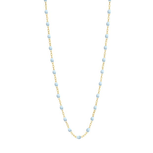 Classic GiGi Baby Blue necklace, yellow gold, 16.5""
