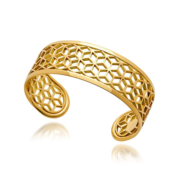 Hex Narrow Cuff Bracelet - ReRe Corcoran Jewelry