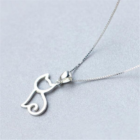 Sterling Sliver Cat Necklace - Rapture360.com